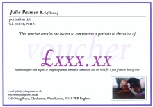 Gift Vouchers for Portraits