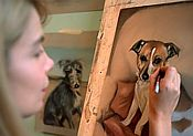 The Artist Painting a Dog